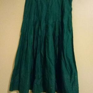 Anthropologie Aquarius Full Length Pleated Skirt